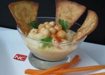 Hummus con Zanahoria y Tortita de Maiz