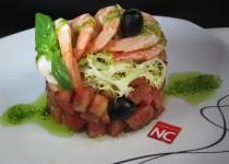 Ensalada de Tomate y Langostinos