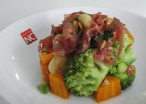 Brócoli con Zanahoria y Jamón