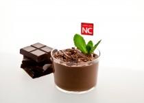 Mousse de chocolate bajo en calorías