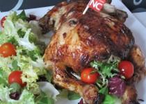 Pollo Relleno de Carne de Pavo